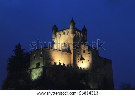 Castle St-Pierre Aosta Italy - stock photo