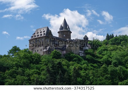 Castle Stahleck above the rhine valley, Bacharach, Germany