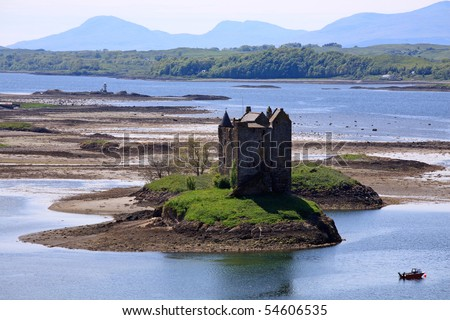 Castle Stalker, Argyll, Scottish Highlands - stock photo