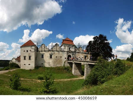 castle Svirzh, Ukraine - stock photo