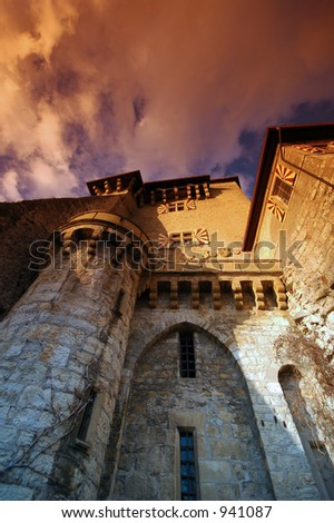 Castle, Switzerland - stock photo