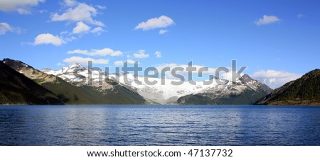Castle Towers, Sphinx Glacier And Garibaldi Lake (Garibaldi Provincial Park, Coast Mountains, BC, Canada) - stock photo