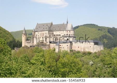 Castle Vianden - Luxembourg - stock photo