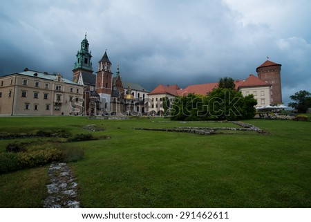 Castle Wawel in Krakow, Poland - stock photo