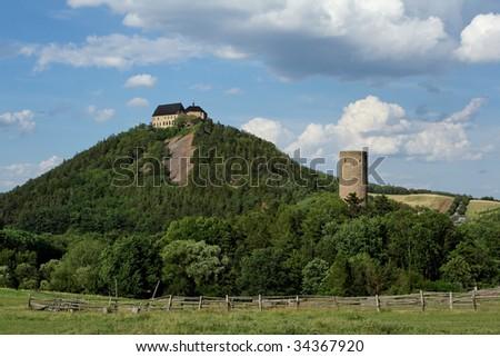 "Castle ""Zabrak"" and ""Tocnik"" - stock photo"