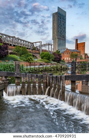 Castlefield Canal, Manchester, UK.