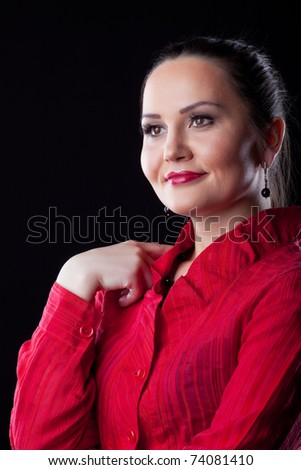 woman dressed old time saloon girl stock photo 42579898