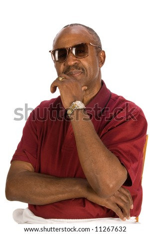 Casual African American man. - stock photo