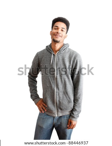 Casual black guy - stock photo