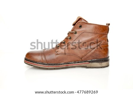 Casual boot on white background