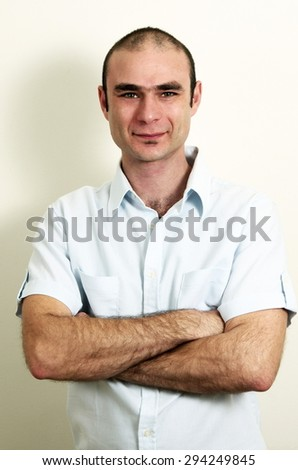 casual caucasian man portrait