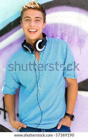 Casual cool guy - stock photo