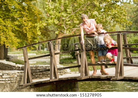 Casual family fun time - stock photo