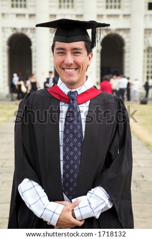 casual graduate at uni - stock photo