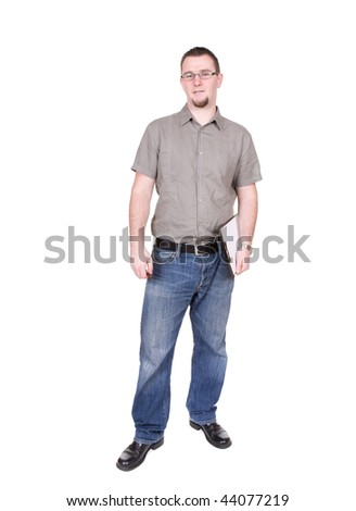 casual guy isolated over white background