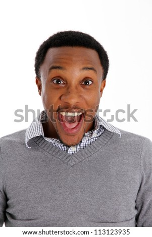 Casual man pictured on a white background - stock photo