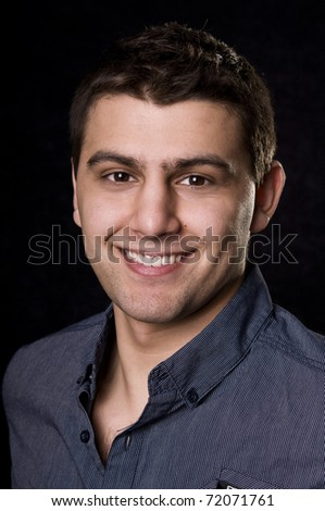 Casual Man Portrait - Smiling - stock photo