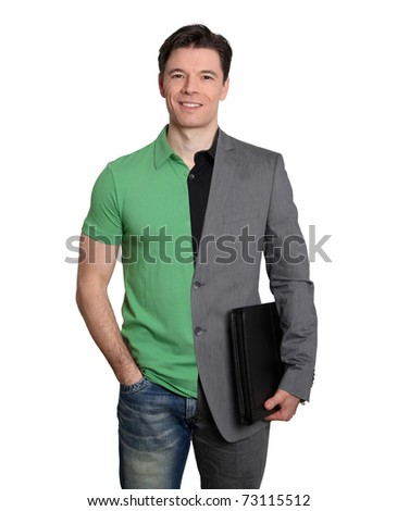 Casual or formal business - stock photo