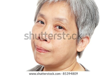 casual senior woman - stock photo