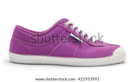 casual shoe isolated on white - stock photo