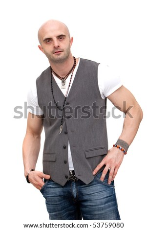 Casual stylish young man - stock photo