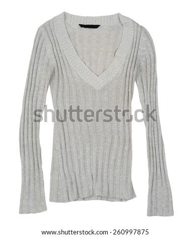 casual sweater on white surface.
