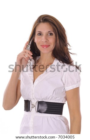 Casual woman on cellphone
