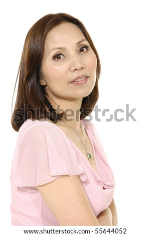 casual woman smiling isolated