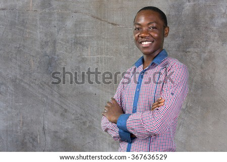 Casual young african man