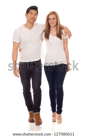 Casual Young Couple - stock photo