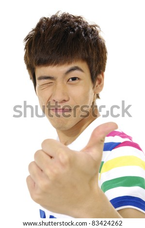 casual young man portrait, - stock photo