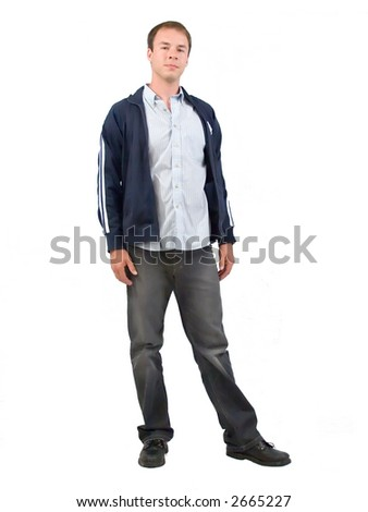 Casually dressed young man. - stock photo