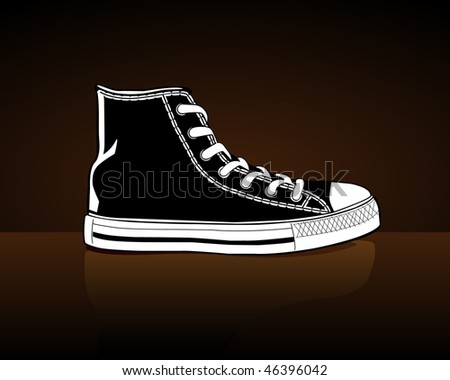 Casuals on a brown background - stock photo
