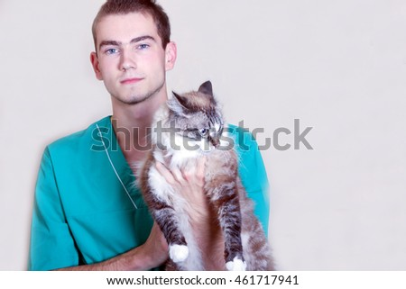 Cat and vet.