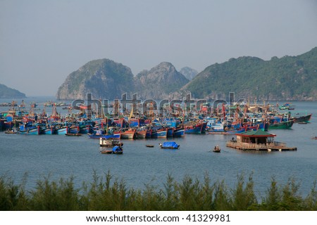 Cat Ba island in Halong Bay, Vietnam