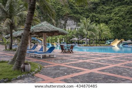 CAT BA, VIET NAM, June 10, 2016 luxury resort, in the Bay Cat Ba, Hai Phong, Vietnam
