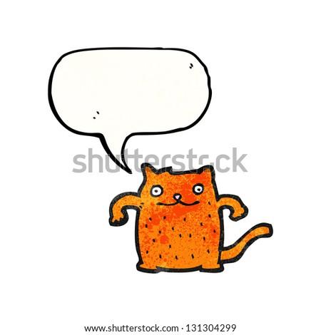 cat cartoon - stock photo
