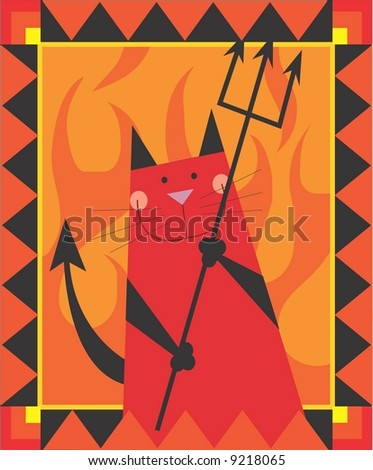 cat devil - stock photo