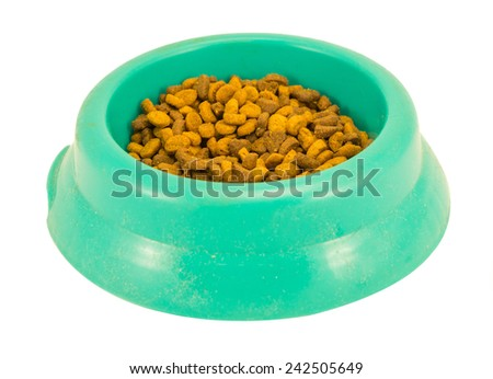 cat food green box isolated in white - stock photo