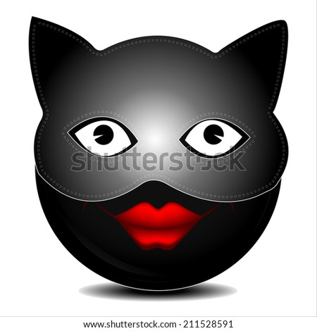 Cat mask character  - stock photo
