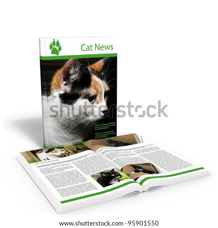 Cat News - stock photo