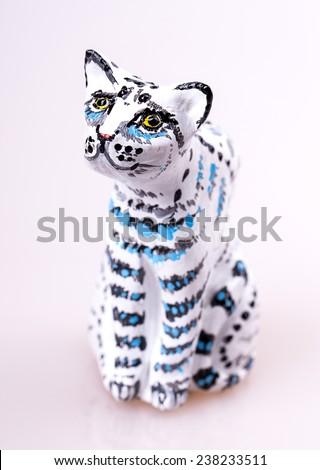 cat toy Isolated on white background - stock photo