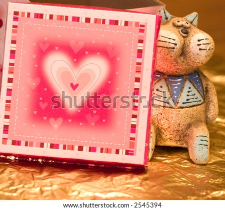 Cat With Pasteboard Heart