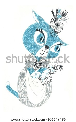 Cat woman - stock photo