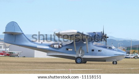 Catalina Flying boat ready to taxi