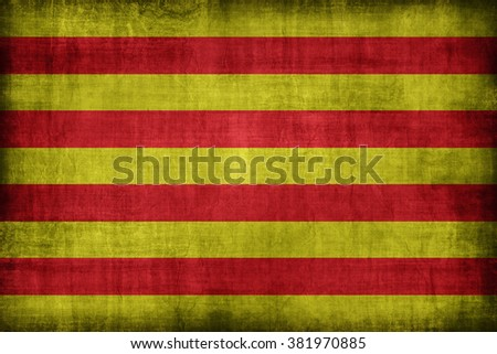 Catalonia or The Senyera flag pattern, retro vintage style