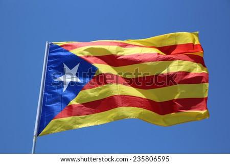 Catalonian Flag - stock photo