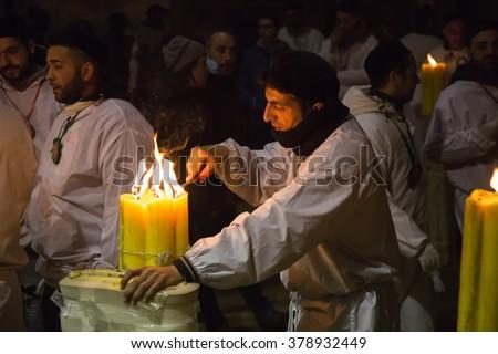 Catania, Italy - February 05, 2016  Saint Agatha of Sicily - Fest of the patron saint of Catania - stock photo