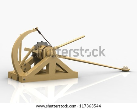 Catapult, Leonardo da Vinci, Codex Atlanticus/140r