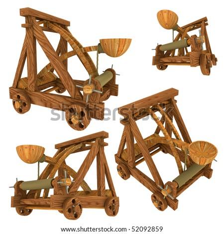 Catapult Wood - stock photo